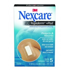 Nexcare Absolute Waterproof Premium Adhesive Pads, 2.375 x 4 inches, 5-Count